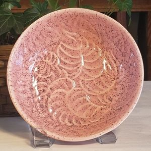 Mid Century Pink Speckled Botanical Bowl